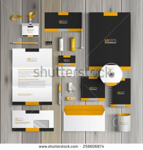 stock-vector-black-classic-corporate-identity-template-design-with-yellow-shapes-business-stationery-259606874