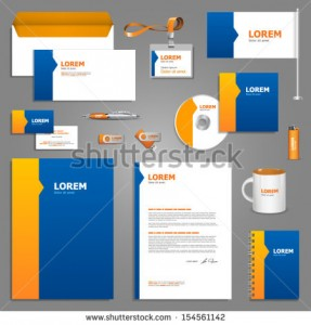 stock-vector-blue-stationery-template-design-with-orange-elements-documentation-for-business-154561142