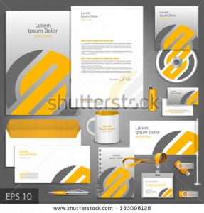 stock-vector-gray-corporate-identity-template-with-orange-element-vector-company-style-for-brandbook-and-133098128
